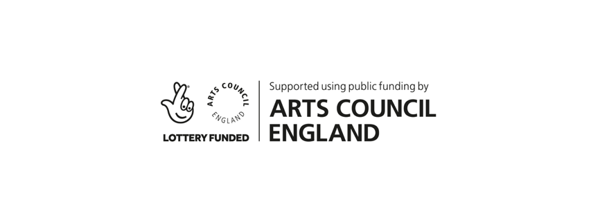 Arts Council England and National Lottery combined logo