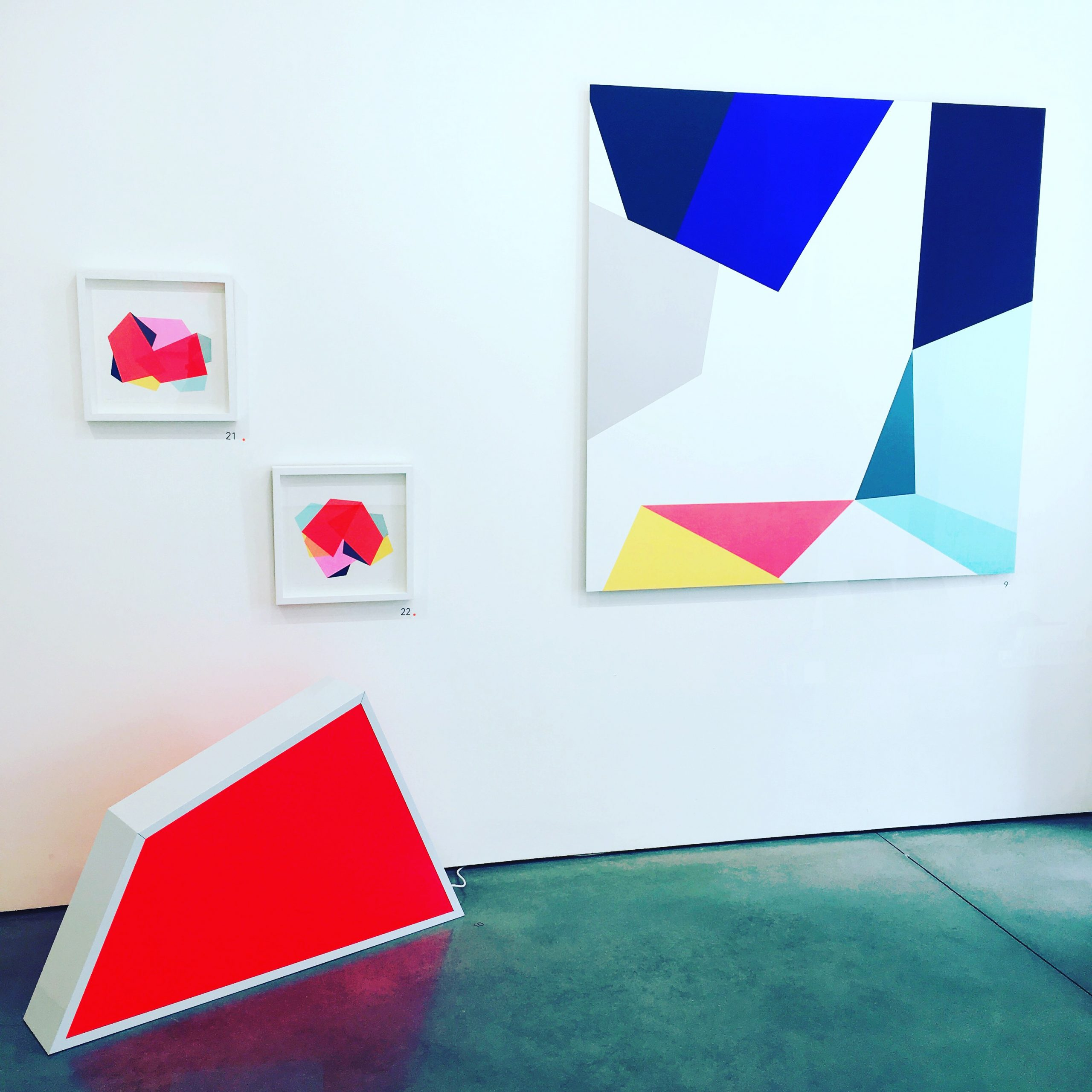 bold geometric and abstract exhibition