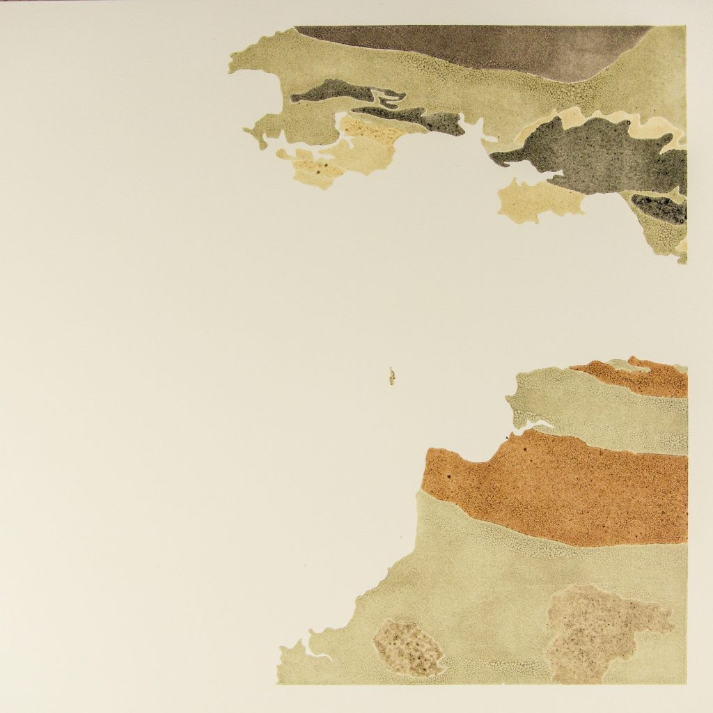 An artist's print showing the geological strata of South Wales, Lundy and North Devon.