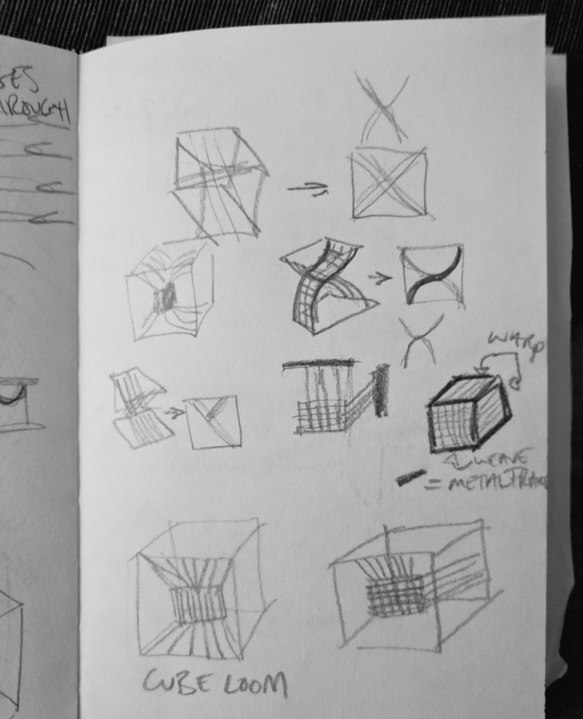 Sketches of cube loom