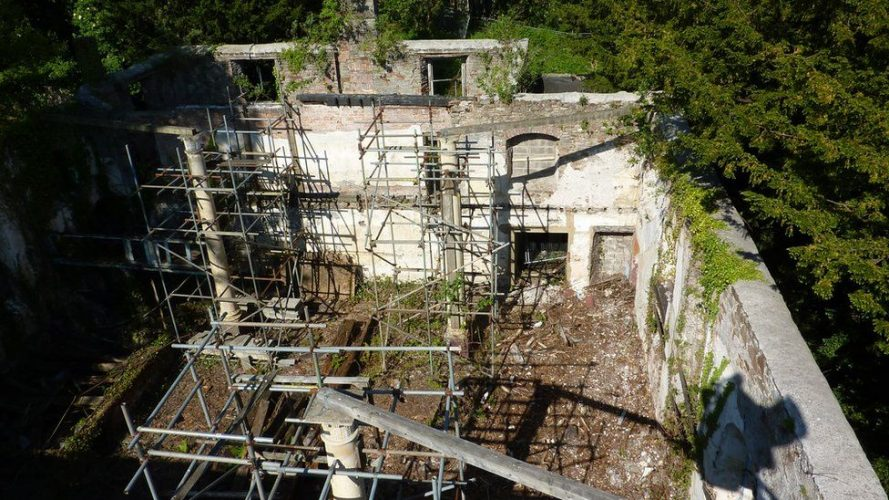Whitfield Tabernacle aerial photograph of ruin
